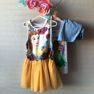 Belle Beauty and the Beast Dress Outfit Bundle